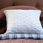 Honey Marcel Decorative Pillow in Pool Hugo with Trim