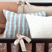Honey Marcel Smocked Decorative Boudoir Pillow in Fog Chloe