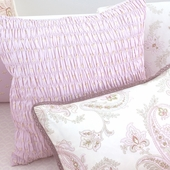 Honey Odile Smocked Decorative Pillow in Lilac Laurent