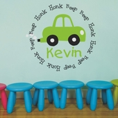 Honk Honk Beep Beep Custom Personalized Wall Decal