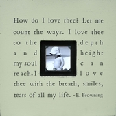 How Do I Love Thee Photobox Frame