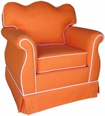 Huntington Orange Adult Empire Glider Rocker Chair - Foam or Down