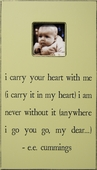 I Carry Your Heart Antiqued Picture Frame
