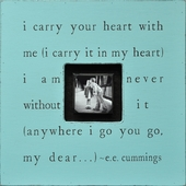 I Carry Your Heart Photobox Frame