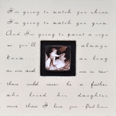 I'm Going To Watch You Shine Photobox Frame