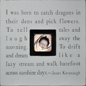 I Was Born to Catch Dragons Photobox Frame