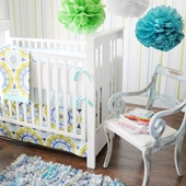 Indigo Summer 2-Piece Crib Bedding Set