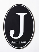 Initial & Name Boy's Custom Oval Wood Sign