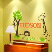 It's a Jungle Out There Custom Personalized Wall Decal