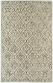 Ivory Diamond Damask Candice Olson Hand-Tufted Rug