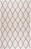 Ivory & Golden Brown Fallon Hand-Woven Rug