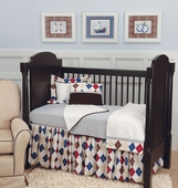 Ivy League Blue Toddler Coverlet & Pillow
