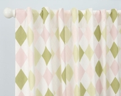 Ivy League Pink Drapery Panels