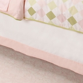Ivy League Pink Gathered Bed Skirt