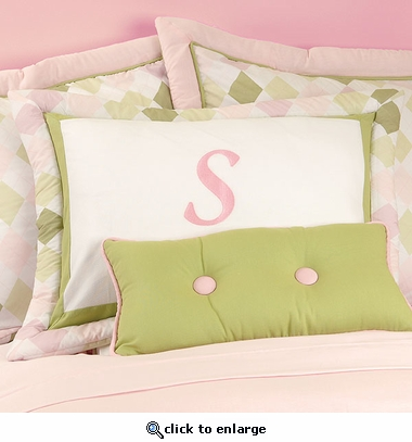 Ivy League Pink Standard Pillow Sham