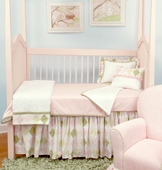 Ivy League Pink Toddler Coverlet & Pillow