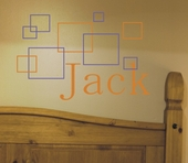 Jack's Squares Custom Personalized Wall Decal