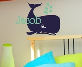 Jacob's Whale Custom Personalized Wall Decal