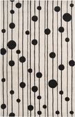 Jet Black Dew Drops Candice Olson Hand-Tufted Rug