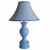 Jezebel Blue Linen Medium Pedestal Lamp