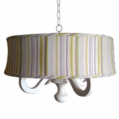 Johara Stripe Drum Chandelier