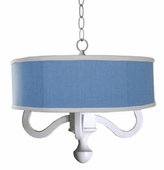 Jonah Drum Chandelier in Chambray