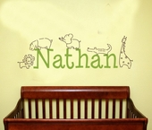 Jungle Animals Custom Personalized Wall Decal