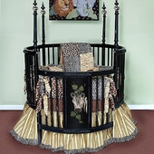 Jungle Fury Round Crib Bedding