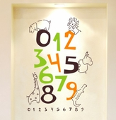 Jungle Numbers Custom Wall Decal