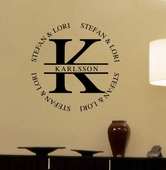 Karlsson Monogram Custom Personalized Wall Decal