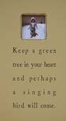 Keep a Green Tree Antiqued Picture Frame