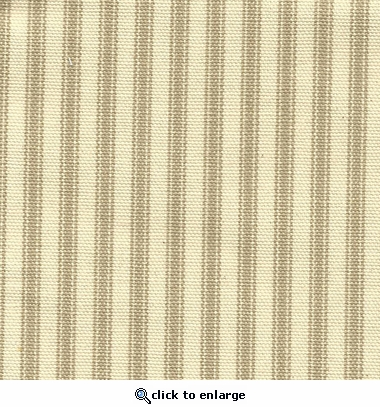 Khaki On Khaki Ticking Fabric
