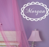 Lace Custom Personalized Wall Decal