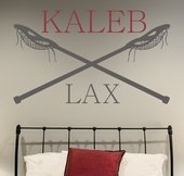 Lacrosse Name Custom Personalized Wall Decal