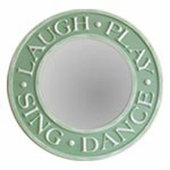 Laugh Play Sing Dance Round Mirror