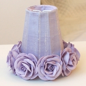 Lavender Chandelier Shade with Roses