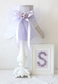 Lavender Dupioni Silk & Tulle Table Lamp