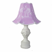 Lavender Pagoda Bella Medium Pedestal Lamp