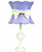 Lavender Scallop Hourglass Shade on Large Curvature Pearlized Lamp