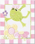 Leap Frog Gallery Wrapped Stretched Giclee Canvas