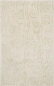 Lettuce Leaf Swirls Reverse Escape Hand-Tufted Rug