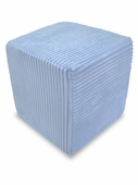 Light Blue Cord Minky Foam Block
