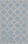 Light Blue Link Zuna Hand-Tufted Rug