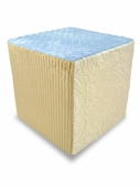Light Blue/Neutral Minky Foam Block