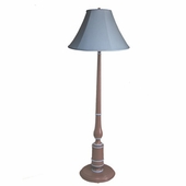 Light Chambray & Brown Baldwin Floor Lamp