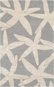 Light Gray Starfish Escape Hand-Tufted Rug