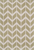 Light Lime Chevron Fallon Hand-Woven Rug