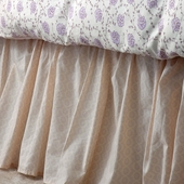 Lilac Arpege Gathered Bed Skirt in Lilac Violine