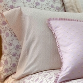 Lilac Arpege Pillow Case Pair in Lilac Violine