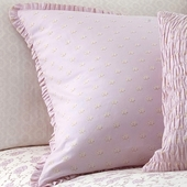 Lilac Arpege Pillow Sham in Lilac Laurent with Ruffle